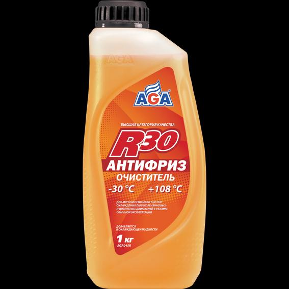 Антифриз - очиститель, готовый к применению, цвет нейтральный, -30С. AGA (AGA045R)