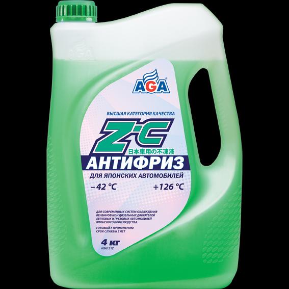 Антифриз готовый к применению, для японских автомобилей,зеленый, -42С. AGA (AGA121Z)