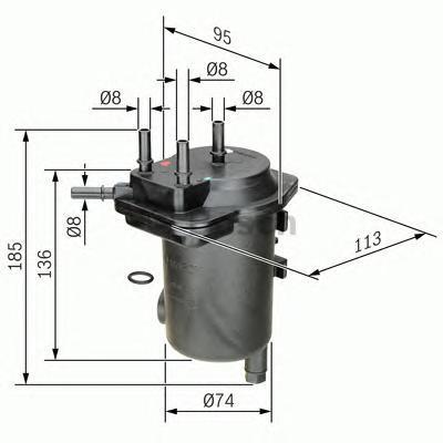 ТОПЛИВНЫЙ ФИЛЬТР. Bosch (0450907011)