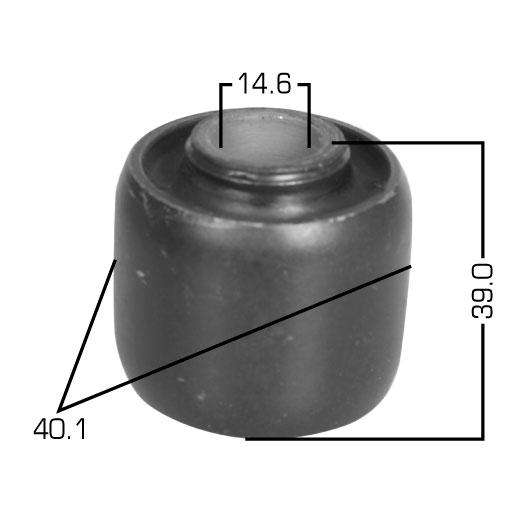 Сайлентблок  Masuma  Prado /KDJ/KZJ/RZJ/VZJ9#/ втулка аммортизатора front. (RU-169)
