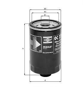 Фильтр масляный MAHLE OC 105 S0322 (W 950/4). (OC105)