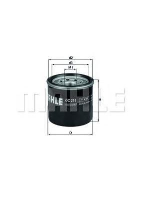Фильтр масляный MAHLE OC 215 S0322 (W 67/2). (OC215)