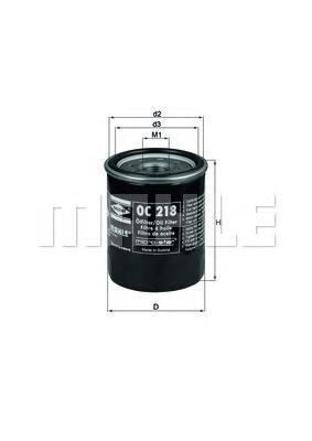 Фильтр масляный MAHLE OC 218 S0322 (W 610/4). (OC218)