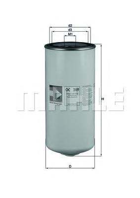 Фильтр масляный MAHLE OC 289 Z0322 (W 13 145/6). (OC289)
