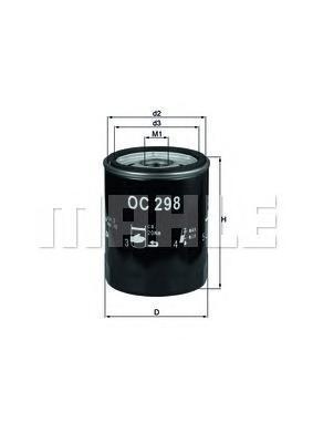 Фильтр масляный MAHLE OC 298 S0322 (W 713/9). (OC298)