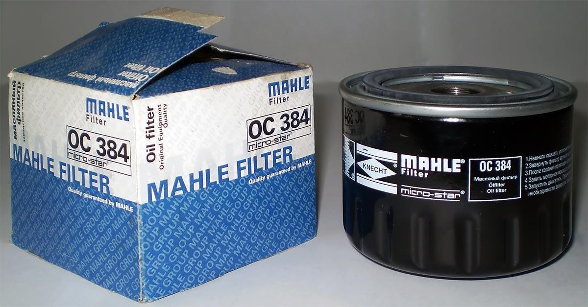 Фильтр масляный MAHLE OC 384 S0044 (W 914/2) (2108). (OC384)