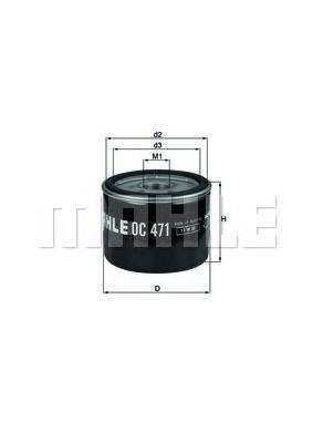 Фильтр масляный MAHLE OC 471 S0322 (W 79). (OC471)