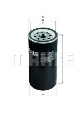 Фильтр масляный MAHLE OC 474 Z0322 (W 1170/7). (OC474)