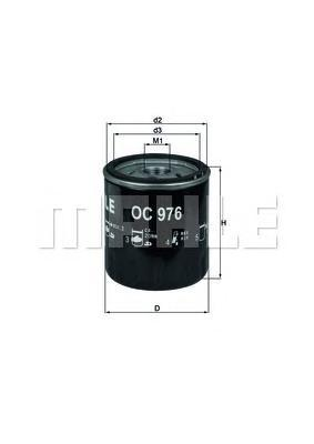 Фильтр масляный MAHLE OC 976 S0322 (W 716/1). (OC976)