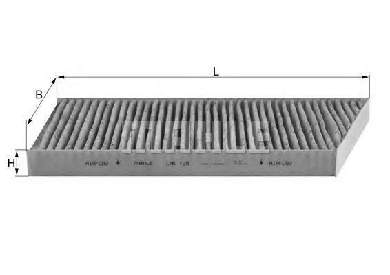 Фильтр салонный угольный MAHLE LAK 129 S0322 (CUK 3461). (LAK129)