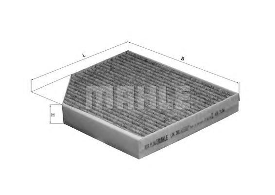 Фильтр салонный угольный MAHLE LAK 386 Z0322 (CUK 2450). (LAK386)