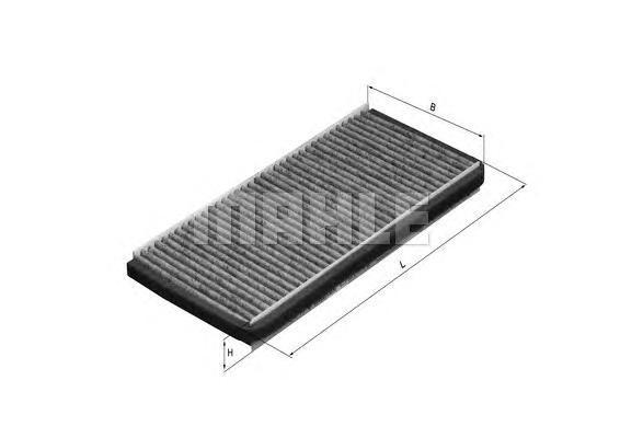 Фильтр салонный угольный MAHLE LAK 448 Z0322 (CU 22 002-2). (LAK448)