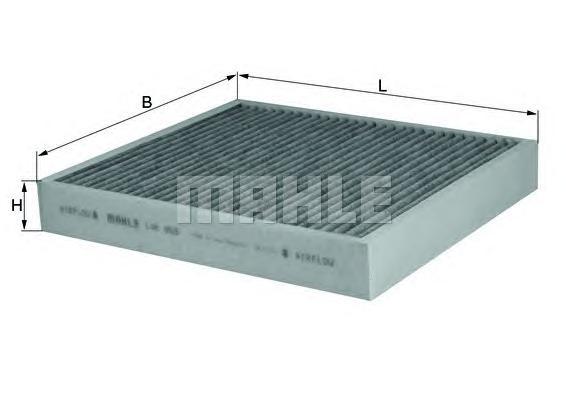 Фильтр салонный угольный MAHLE LAK 809 Z0322 (CUK 26 010). (LAK809)