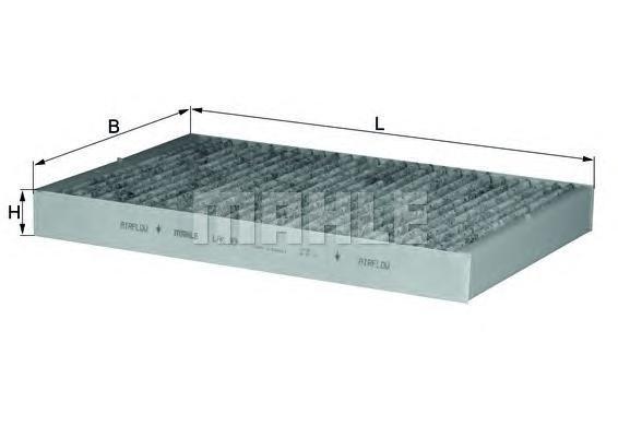 Фильтр салонный угольный MAHLE LAK 93 S0322 (CUK 3037). (LAK93)