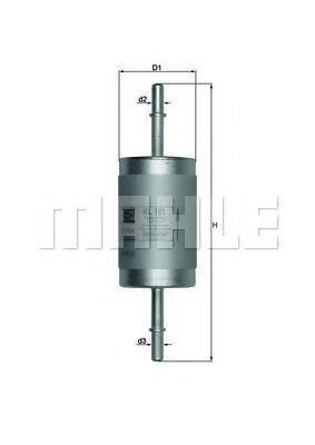 Фильтр топливный погружной MAHLE KL 181 S0322 (WK 512/1). (KL181)