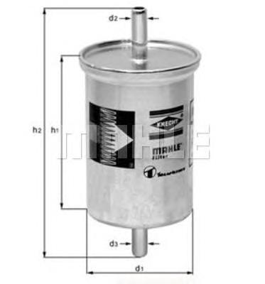 Фильтр топливный погружной MAHLE KL 2 Z0322 (WK 830). (KL2)