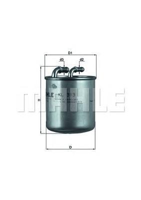 Фильтр топливный погружной MAHLE KL 313 A0322 (WK 820/1). (KL313)
