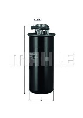 Фильтр топливный погружной MAHLE KL 454 Z0322 (WK 735/1). (KL454)