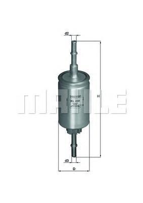 Фильтр топливный погружной MAHLE KL 458 Z0322 (WK 511/2). (KL458)