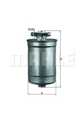 Фильтр топливный погружной MAHLE KL 554D Z0322 (WK 842/21 x). (KL554D)
