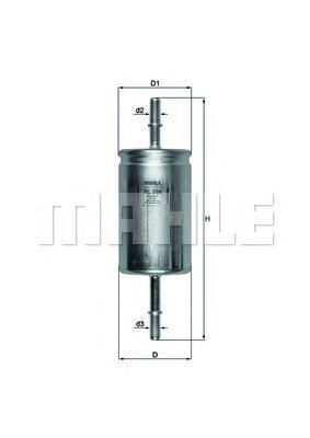 Фильтр топливный погружной MAHLE KL 559 Z0322 (WK 614/46). (KL559)