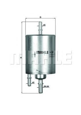 Фильтр топливный погружной MAHLE KL 571 Z0322 (WK 720/4). (KL571)