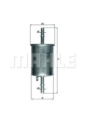 Фильтр топливный погружной MAHLE KL 573 Z0322 (WK 55/3). (KL573)