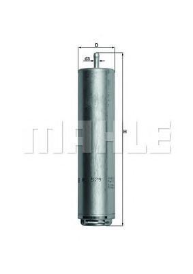 Фильтр топливный погружной MAHLE KL 579D S0322 (WK 5001). (KL579D)