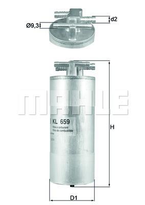 Фильтр топливный погружной MAHLE KL 659 Z0322. (KL659)