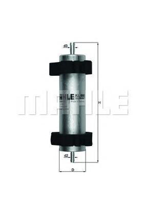 Фильтр топливный погружной MAHLE KL 660 Z0322. (KL660)
