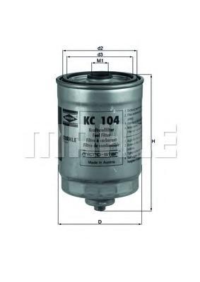 Фильтр топливный MAHLE KC 104 А0322 (WK 713). (KC104)