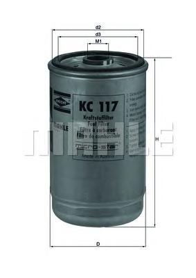 Фильтр топливный MAHLE KC 117 S0322 (WDK 940/5). (KC117)