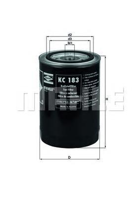 Фильтр топливный MAHLE KC 183 S0322 (WK 940/15). (KC183)