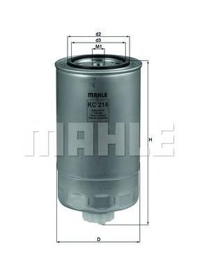 Фильтр топливный MAHLE KC 214 Z0322 (WK 950/19). (KC214)