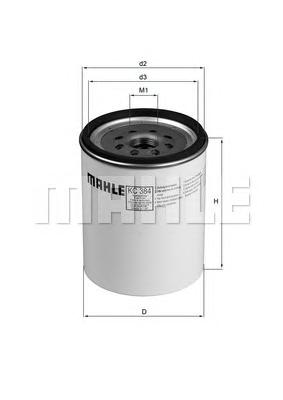 Фильтр топливный MAHLE KC 384D Z0322 (WK 1040/1 x). (KC384D)
