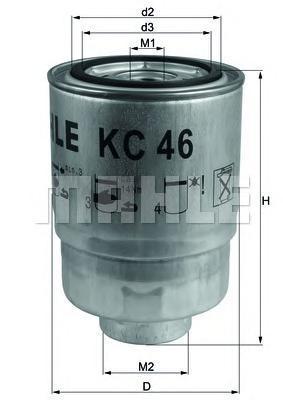 Фильтр топливный MAHLE KC 46 S0322 (WK 940/11) (WK 940/16 x). (KC46)