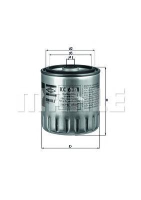 Фильтр топливный. Mahle (KC631D)