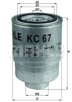 Фильтр топливный MAHLE KC 67 S0322 (WK 940/22) (WK 940/6 x). (KC67)