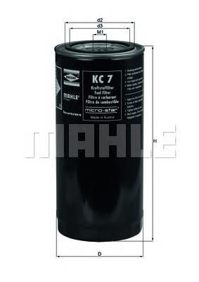 Фильтр топливный MAHLE KC 7 S0322 (WK 962/4). (KC7)