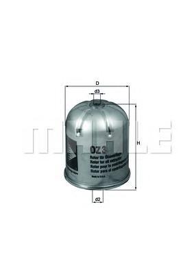 Фильтр центробежной очистки масла MAHLE OZ 3D Z0322 (ZR 904 x). (OZ3D)