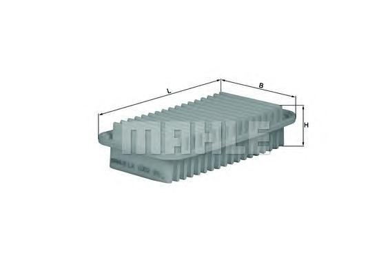 Элемент фильтрующий воздушного фильтра MAHLE LX 1002 Z0322 (C 2513). (LX1002)