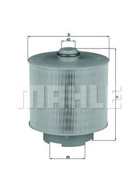 Фильтр воздушный. Mahle (LX1006/2D)