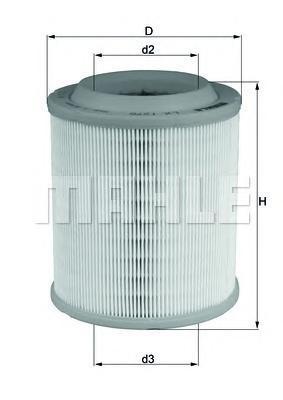 Элемент фильтрующий воздушного фильтра MAHLE LX 1275 Z0322 (C 1652). (LX1275)