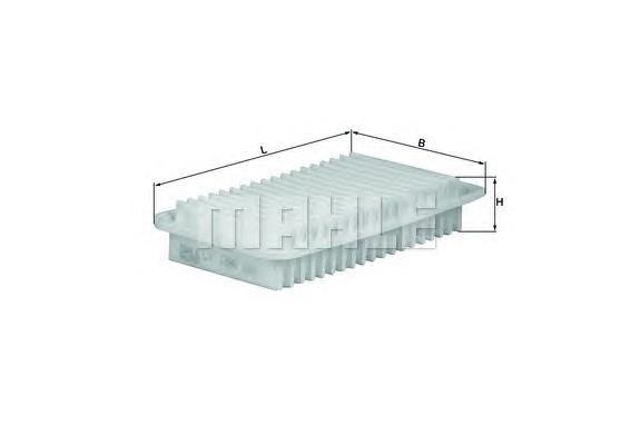 Элемент фильтрующий воздушного фильтра MAHLE LX 1286 Z0322 (C 2620). (LX1286)