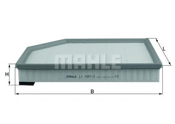 Фильтр воздушный. Mahle (LX15912)
