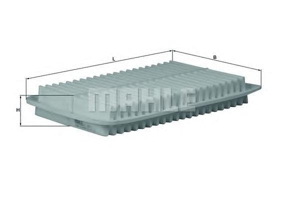 Элемент фильтрующий воздушного фильтра MAHLE LX 1612 Z0322 (C 32 003). (LX1612)