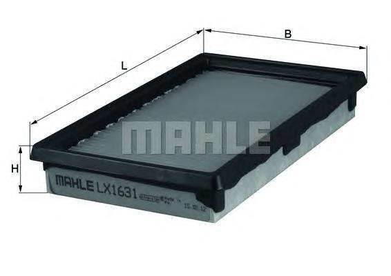 Элемент фильтрующий воздушного фильтра MAHLE LX 1631 Z0322 (C 2420). (LX1631)