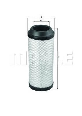 Элемент фильтрующий воздушного фильтра MAHLE LX 1687 Z0322 (C 15 300). (LX1687)