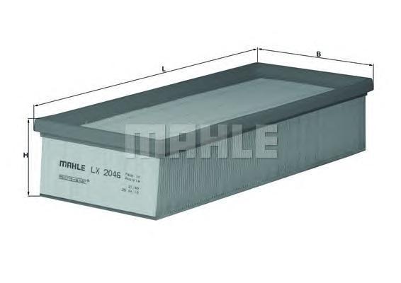 Элемент фильтрующий воздушного фильтра MAHLE LX 2046 S0322 (C 32 130). (LX2046)