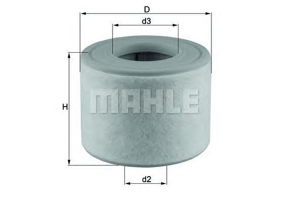 Фильтр воздушный. Mahle (LX2607/2)
